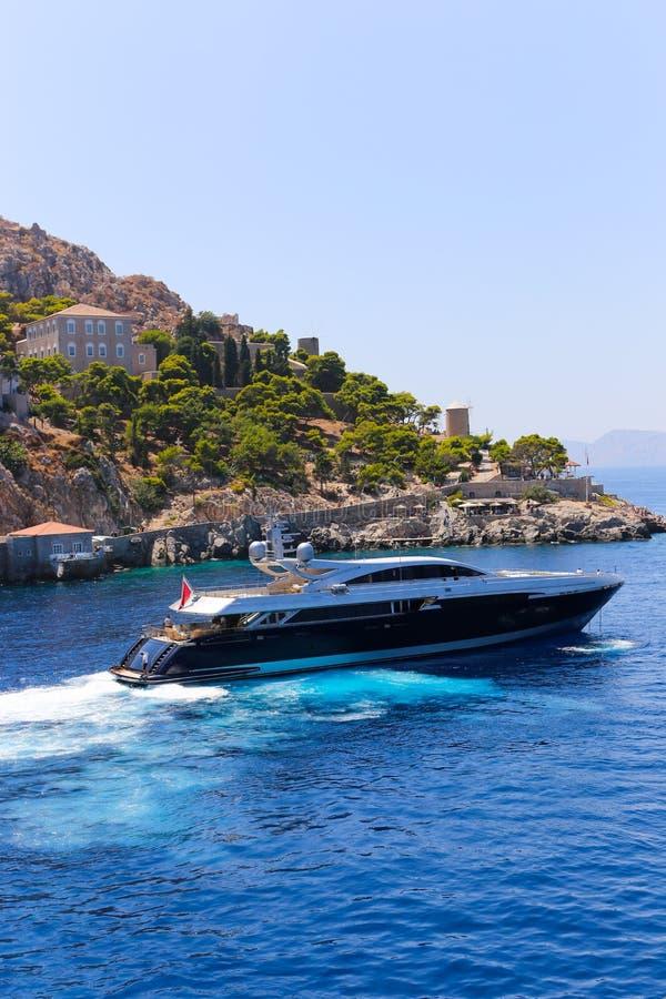 Яхты - острова Греции стоковые изображения