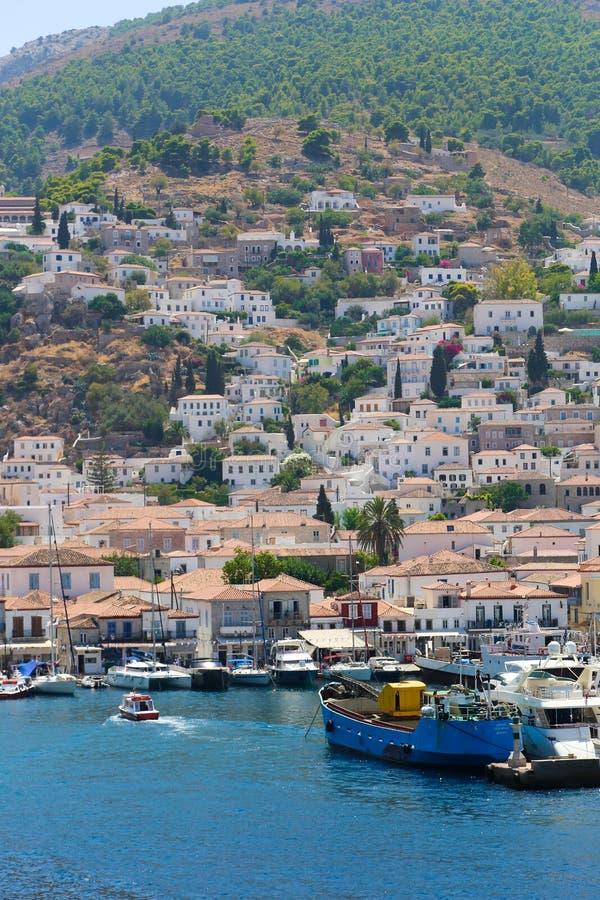 Яхты - острова Греции стоковая фотография
