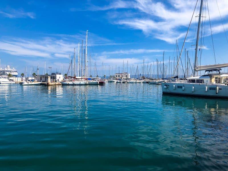 Яхты Сплита Хорватии стоковое фото