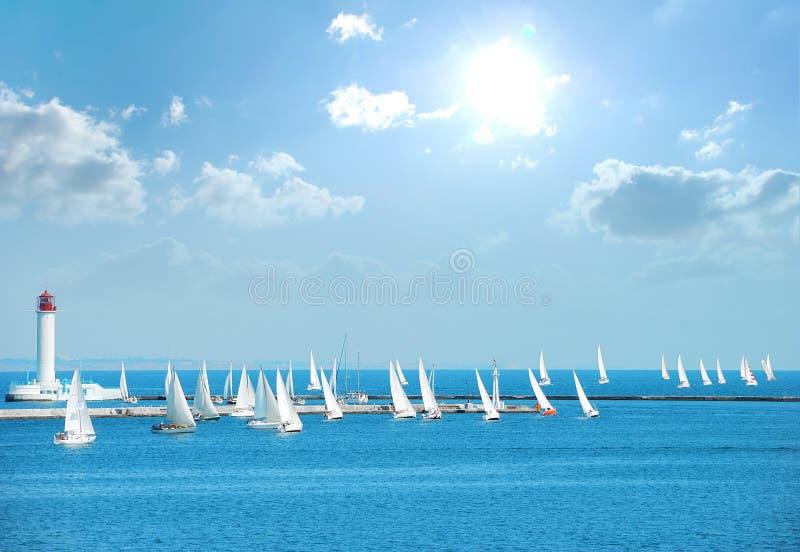 яхты regatta стоковое изображение rf