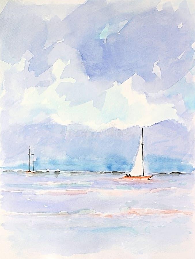 яхты sailing стоковое фото