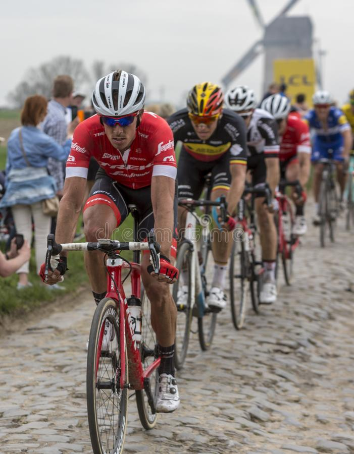 Яшма Stuyven - Париж-Roubaix 2018 велосипедиста стоковые фотографии rf
