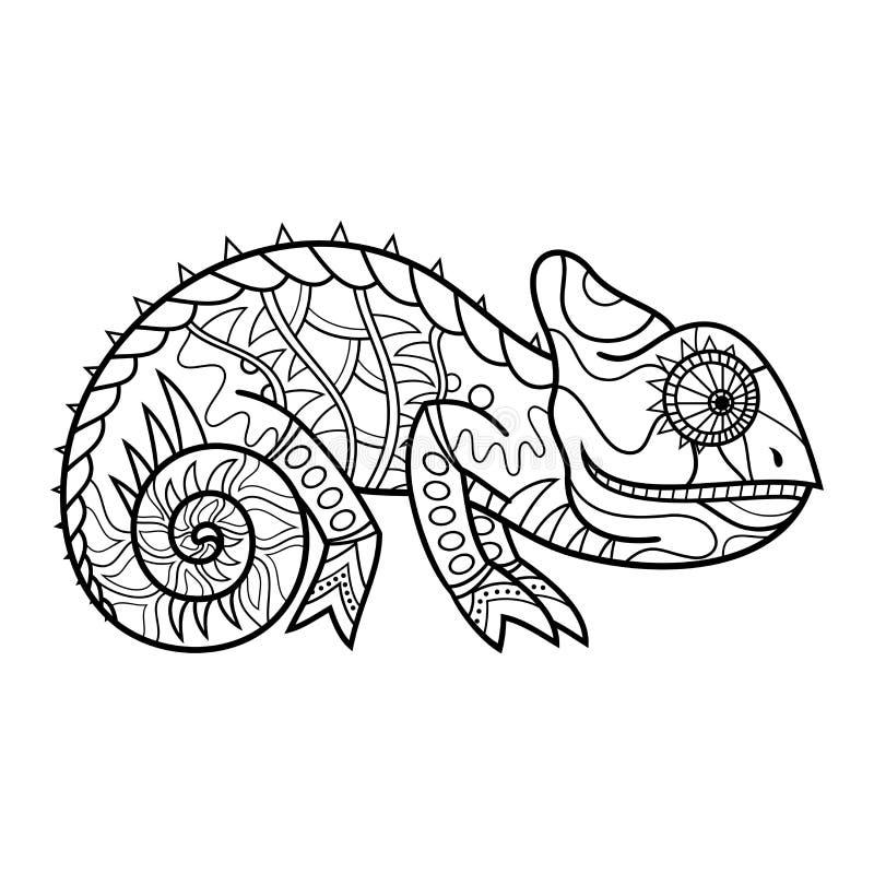 Ящерица вектора племенная декоративная иллюстрация вектора