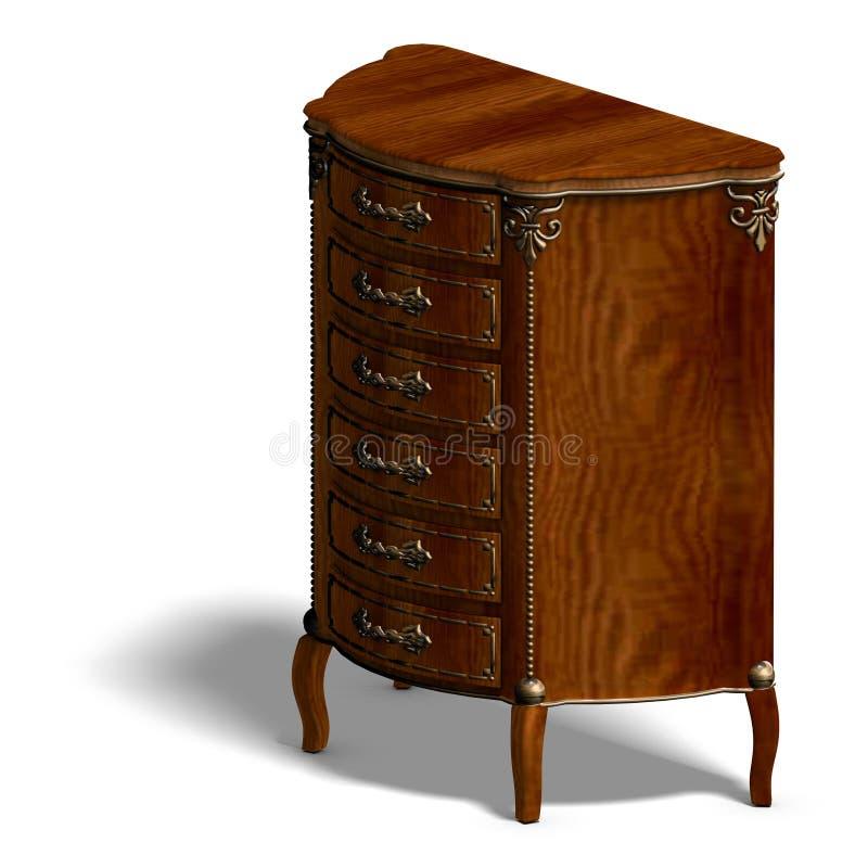 ящики louis деревянное XV commode бесплатная иллюстрация