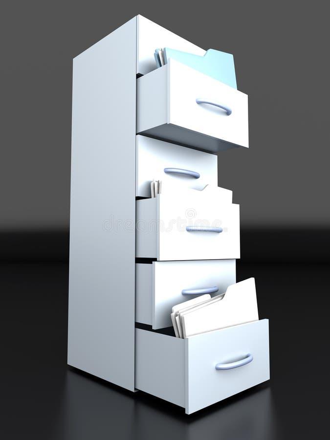 Ящик для хранения карточк бесплатная иллюстрация