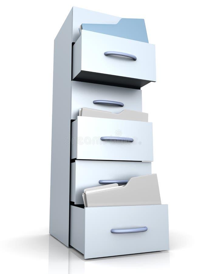 Ящик для хранения карточк иллюстрация штока
