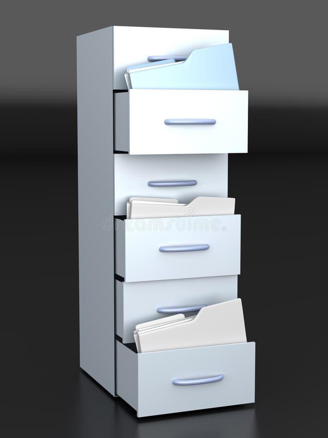 Ящик для хранения карточк иллюстрация вектора