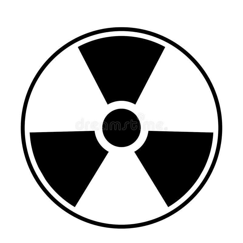 Ядерный вектор значка иллюстрация вектора