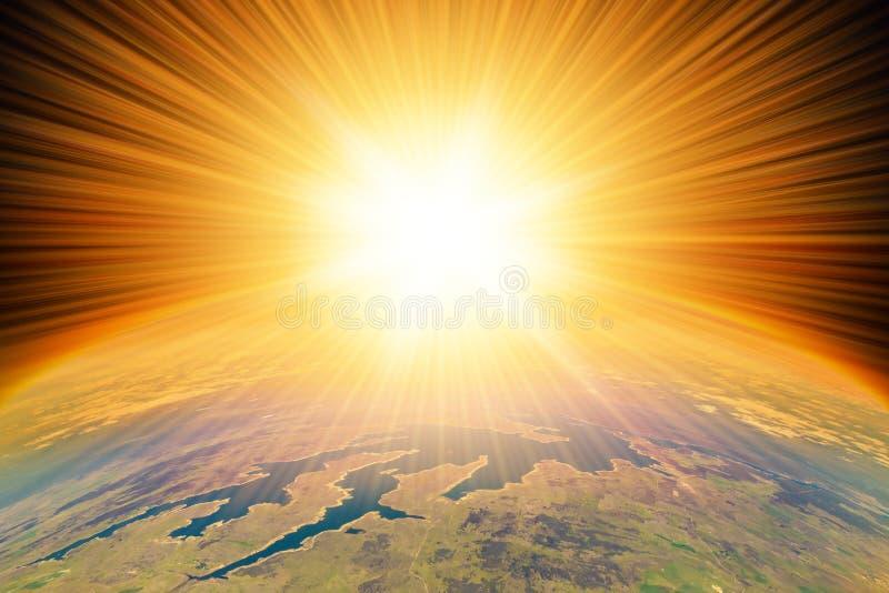 Ядерный взрыв на земле стоковая фотография