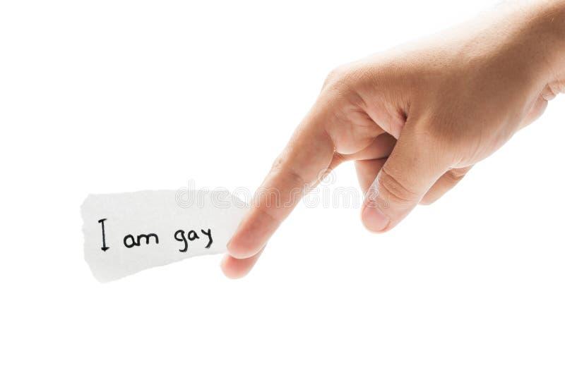 Я заявление гомосексуалиста стоковое изображение