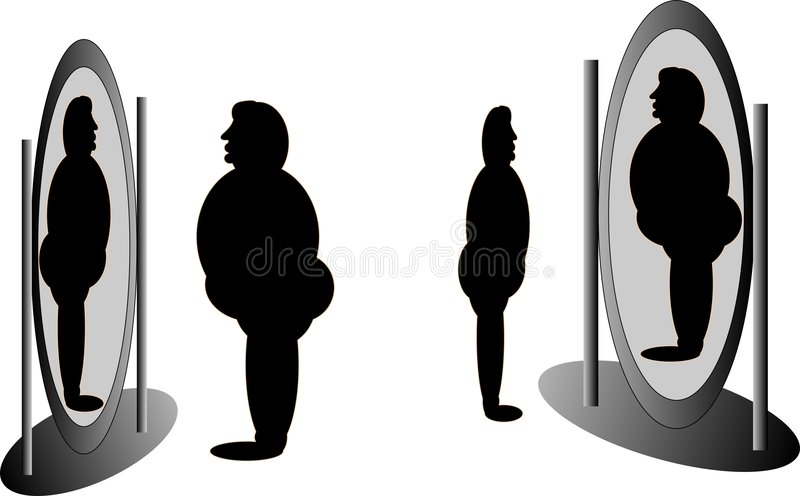я зеркало против бесплатная иллюстрация