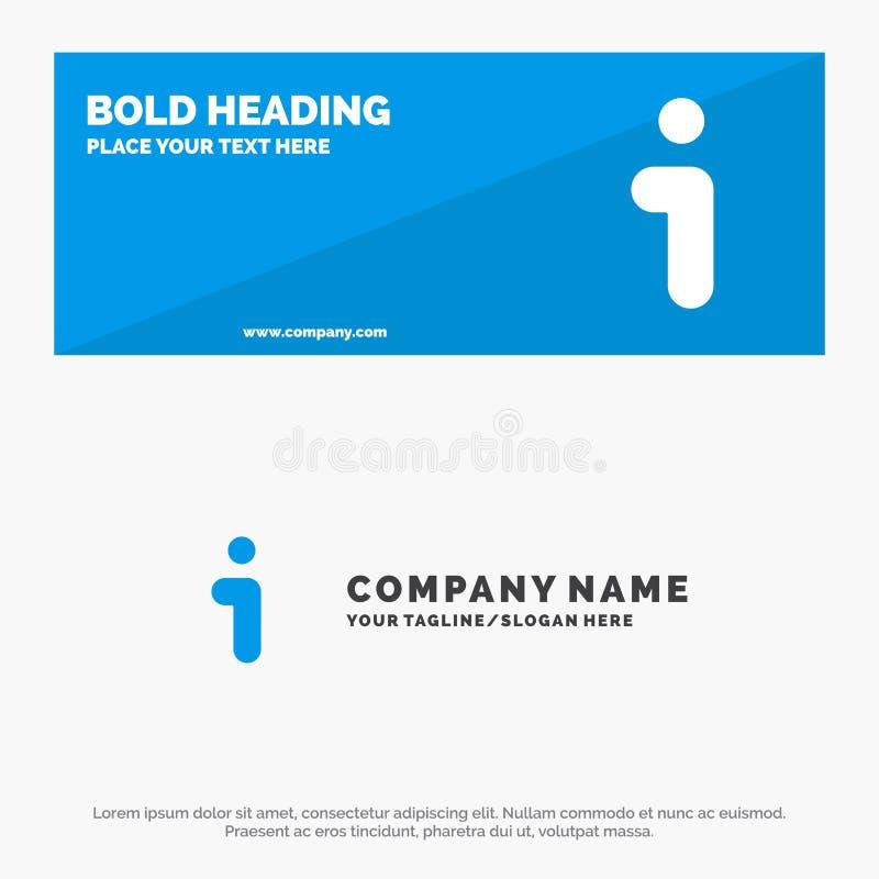 Я, информация, информация, знамя вебсайта значка интерфейса твердые и шаблон логотипа дела бесплатная иллюстрация