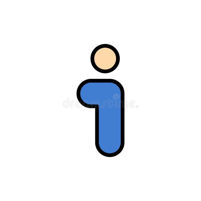 Я, информация, информация, значок цвета интерфейса плоский Шаблон знамени значка вектора бесплатная иллюстрация