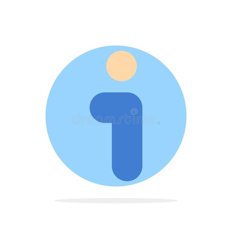 Я, информация, информация, значок цвета предпосылки круга конспекта интерфейса плоский иллюстрация штока