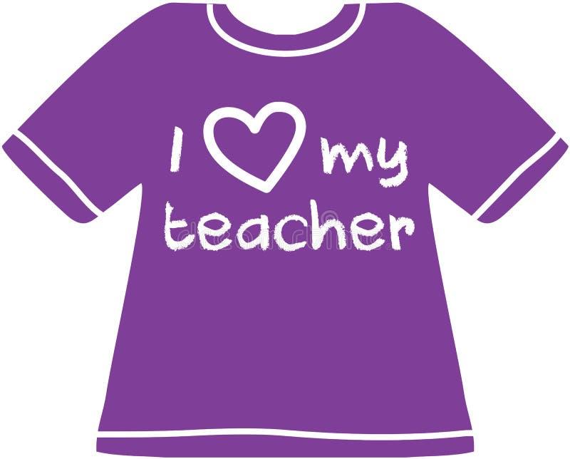 Я люблю мою рубашку учителя стоковое фото