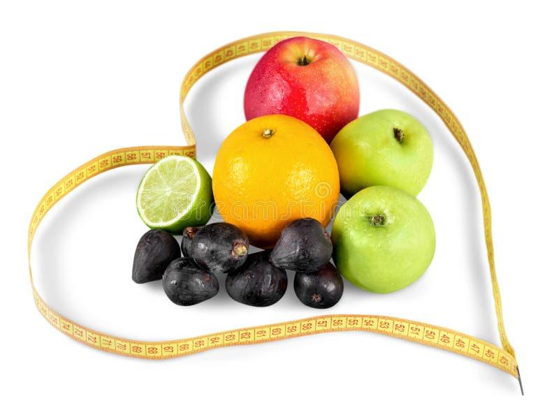 Я люблю плодоовощи Dieting концепция стоковые фото