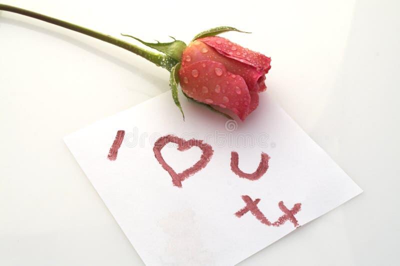 я люблю розово вас стоковое фото rf