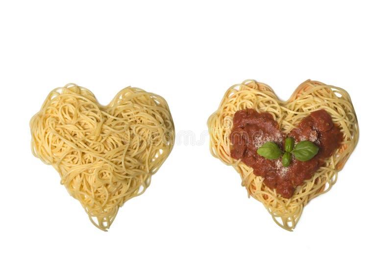 я люблю спагетти стоковые фото
