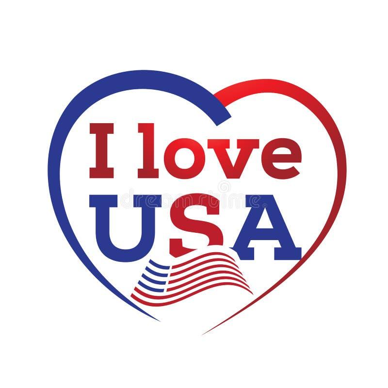 я люблю США бесплатная иллюстрация
