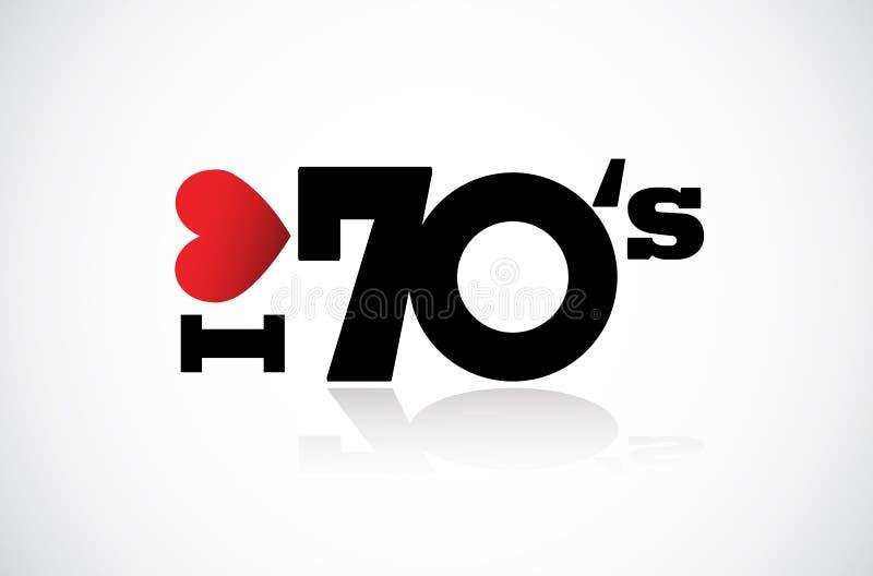 Я люблю 70's иллюстрация штока