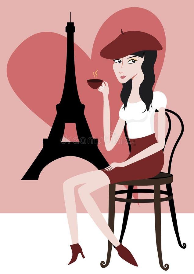 я люблю paris бесплатная иллюстрация
