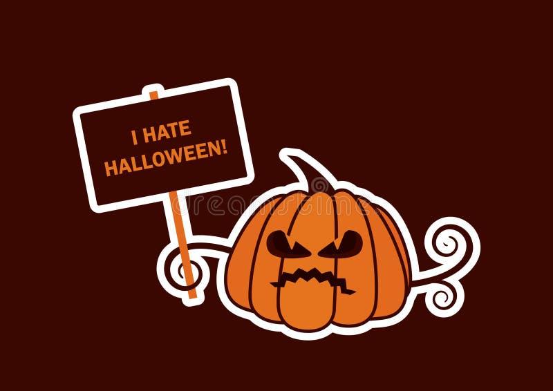 Я ненавижу вектор хеллоуина иллюстрация штока