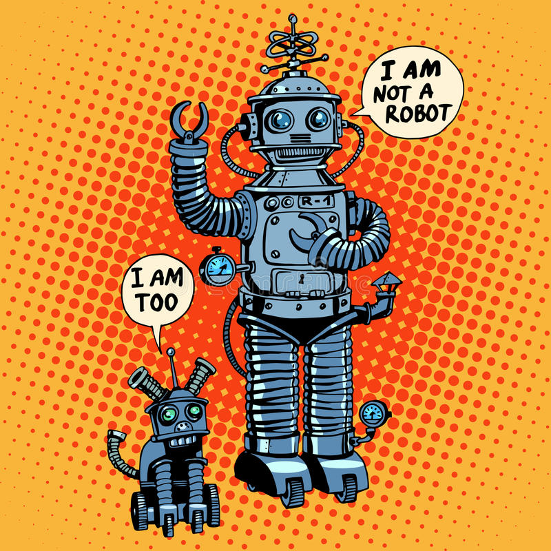 Я нет робота сказал научную фантастику собаки будущую иллюстрация штока