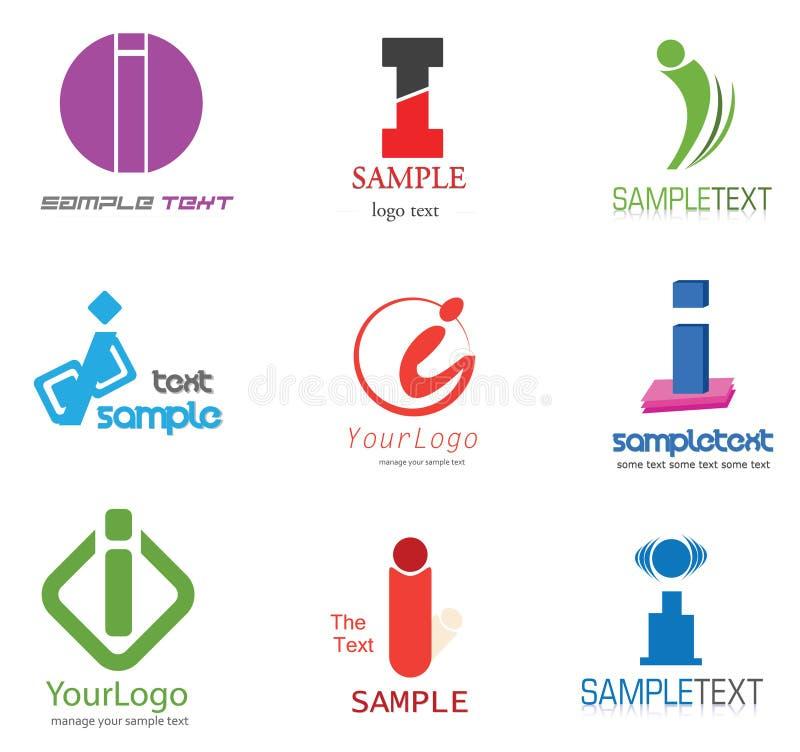 я помечаю буквами логос иллюстрация вектора