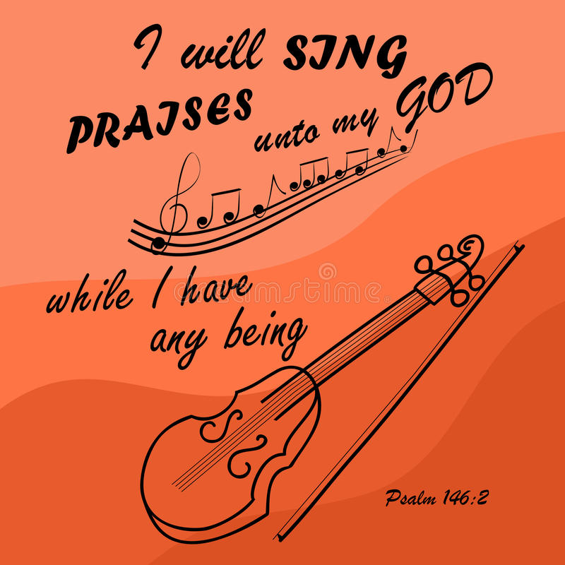 Я спою к богу пока я с скрипкой иллюстрация штока