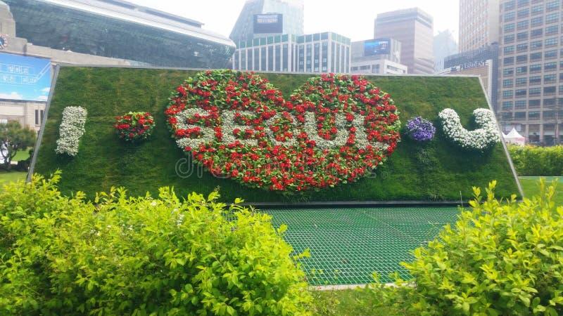 Я тебя люблю, Сеул стоковое фото rf