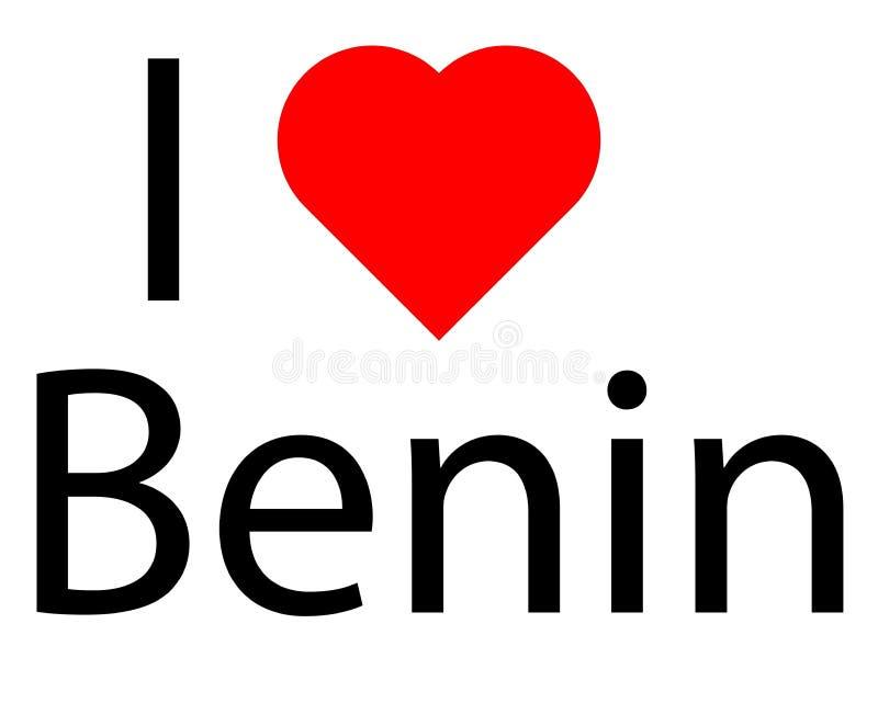 Я люблю Бенин иллюстрация вектора
