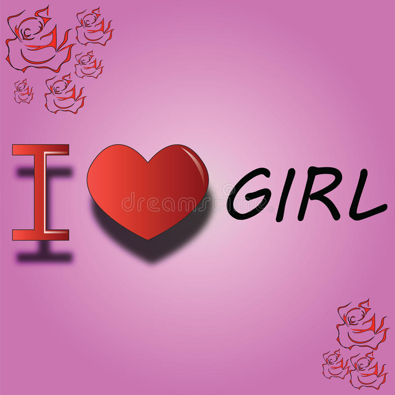 Я люблю девушку стоковое изображение rf