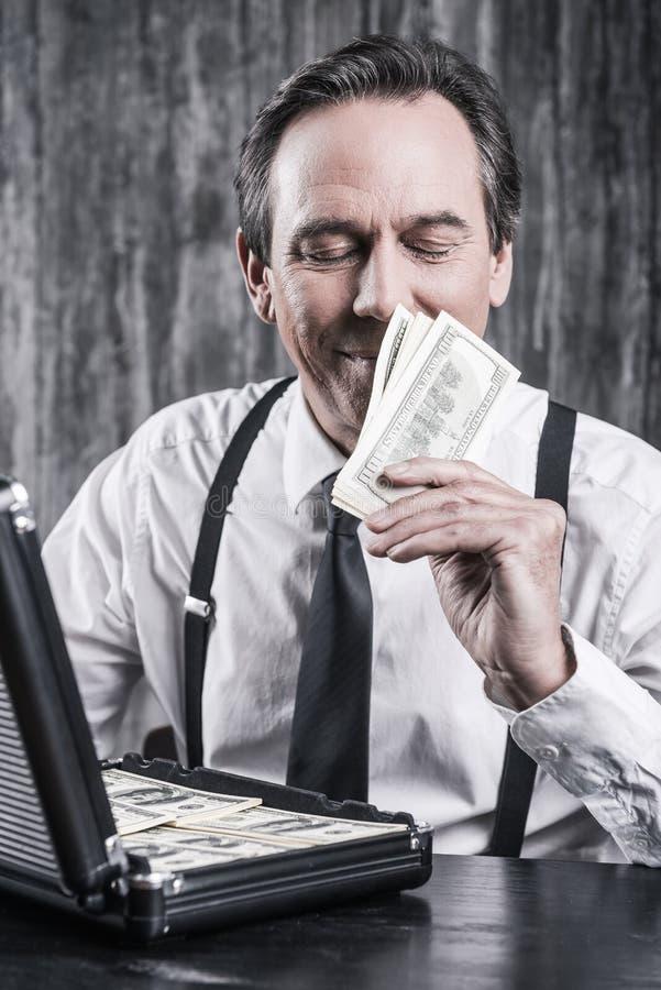 Я люблю запах денег стоковое фото