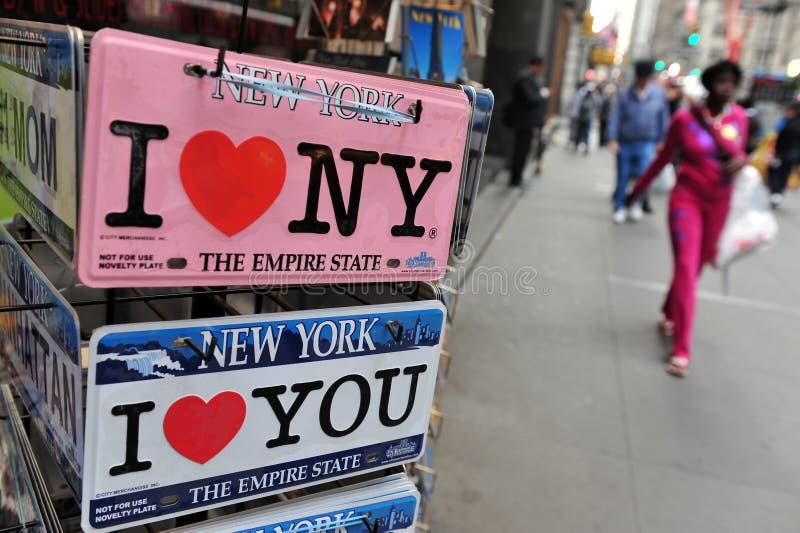 Я люблю знаки Нью-Йорка стоковые фотографии rf