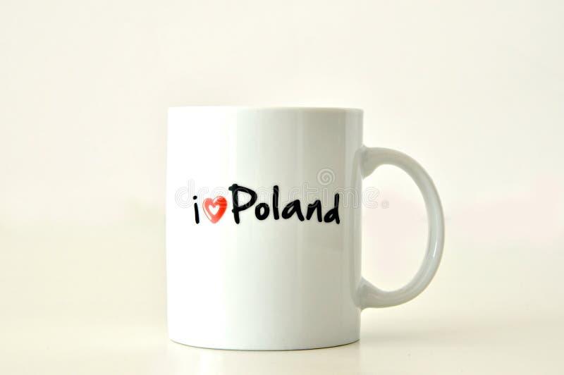 Я люблю кружку Польши стоковое изображение