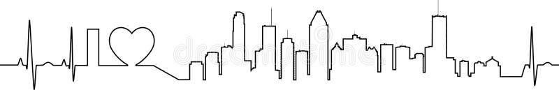 Я люблю Монреаль в необыкновенном стиле ecg иллюстрация вектора