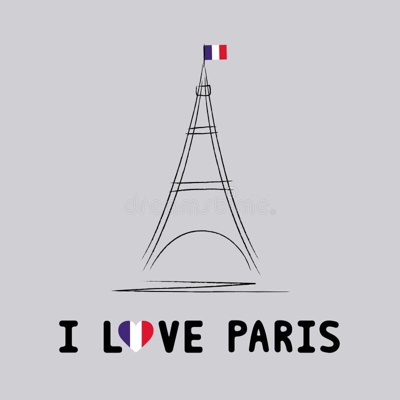 Download Я люблю Париж card4 иллюстрация вектора. иллюстрации насчитывающей paris - 41652183