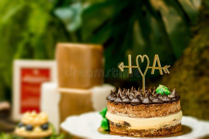 Я люблю торт стоковая фотография