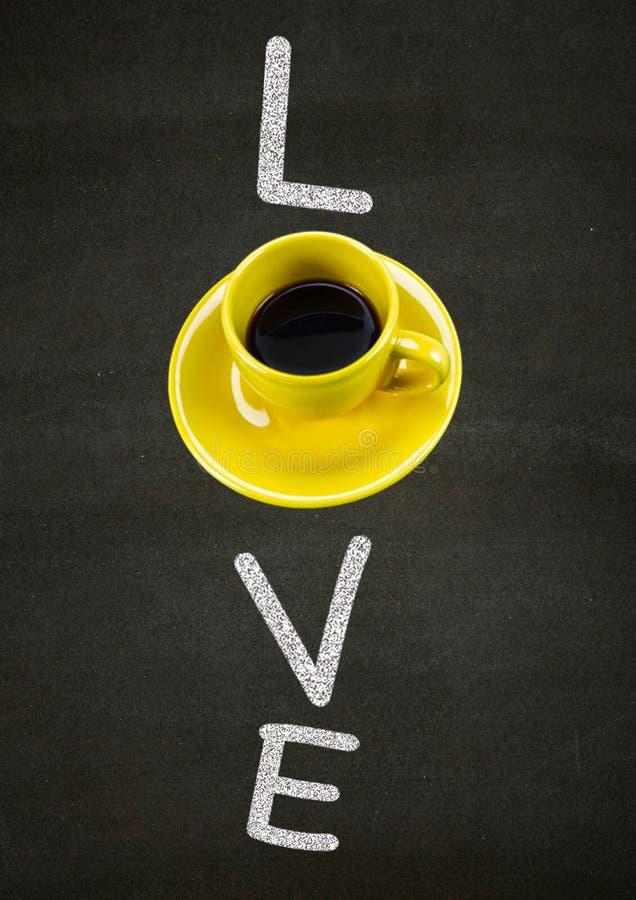 Я люблю caffee стоковые изображения