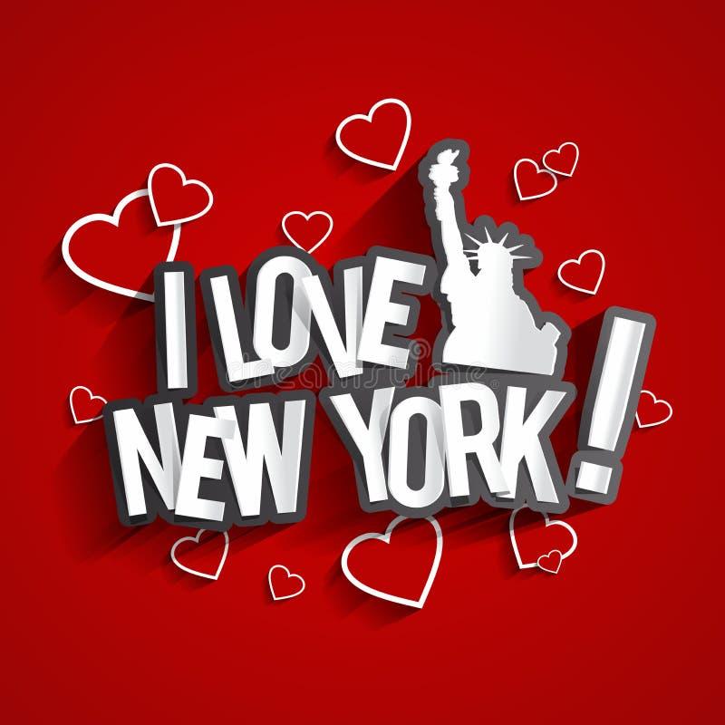 я люблю New York бесплатная иллюстрация