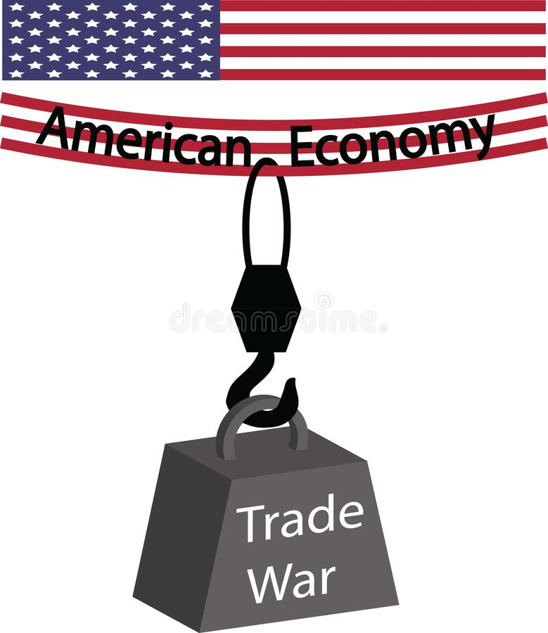 Trade War Dragging The American Economy Down stock image