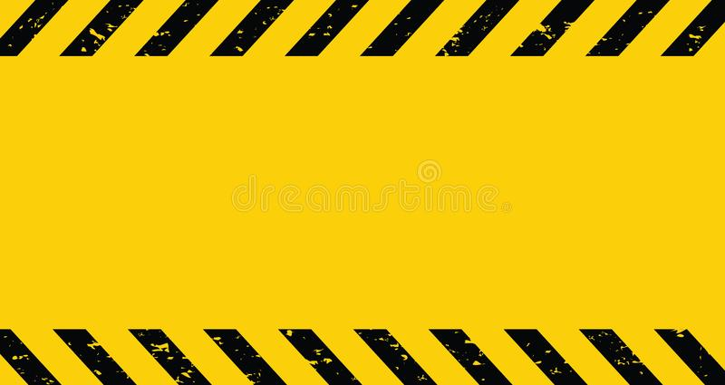 Black and yellow Caution tape. Blank Warning background. Vector illustration royalty free illustration