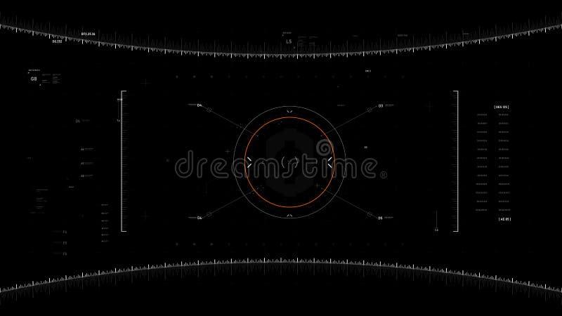 ลลฃฃЭлемент проектирования пользовательского интерфейса Video overlay 009 иллюстрация вектора