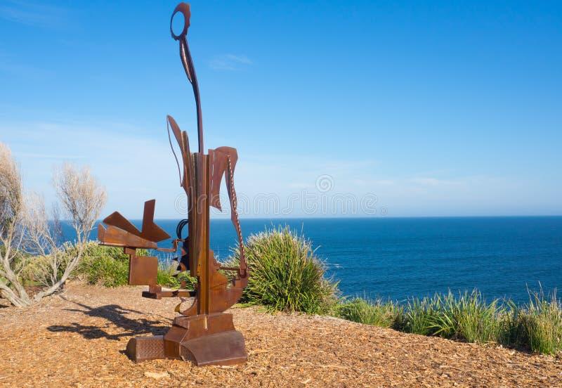 'Ícaro es ilustraciones esculturales de Leo Loomans en la escultura por los acontecimientos anuales del mar libres al público en  imágenes de archivo libres de regalías