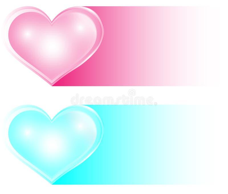 '二重奏,在透明心脏样式传染媒介样式的社会媒介象在爱的概念的图形设计的 双重象,明亮的col 皇族释放例证