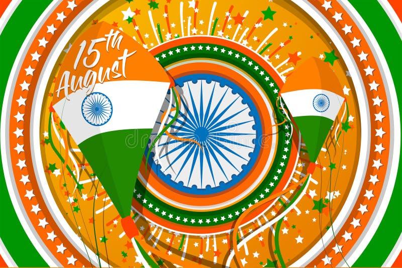 '印度的美国独立日'传染媒介例证 皇族释放例证