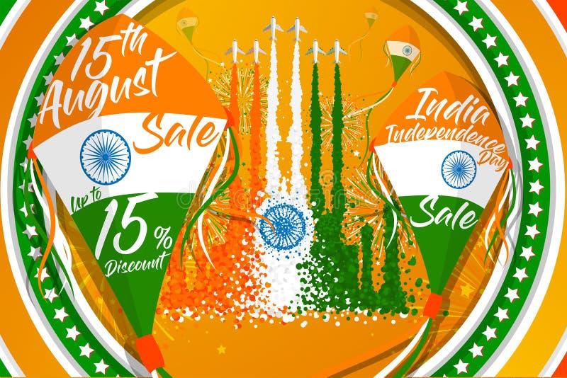 '印度美国独立日'推销的传染媒介例证 向量例证