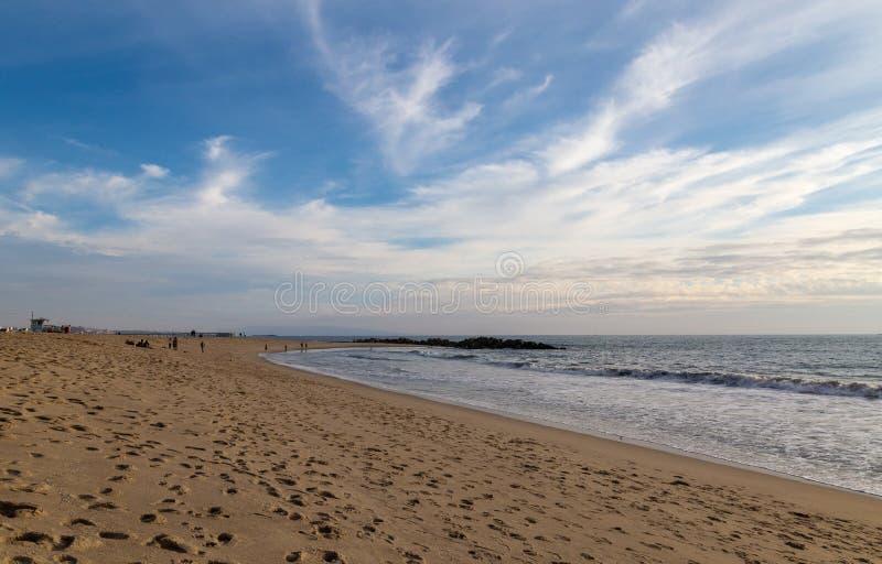 '在时间沙子的脚步' 免版税库存图片