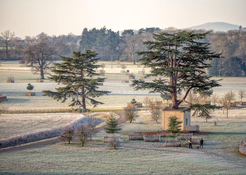 '树上小屋的在Croome公园,渥斯特夏,英国 免版税图库摄影