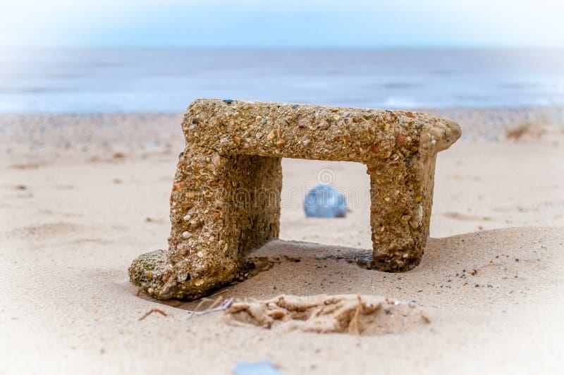 'Brisa de mar '- un retrato del hormigón foto de archivo